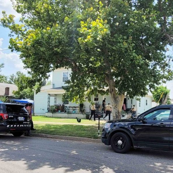 Vernon Police and Wilbarger County Sheriff Office deputies served a warrant on Thursday, July 29, 2021, in connection to an armed robbery earlier. Two individuals were arrested at the scene. Daniel Walker/Vernon Record